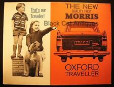 Orig BMC New Morris Oxford Traveller VI Fold-Out Poster Publication H & E 61125