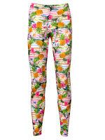 Leopard Print Ladies Pineapple Leggings Fashion Gym Dancewear Size L 2 Pairs