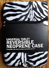 "7"" Inch Zebra Print Universal Reversible Neoprene EReader/Tablet Protective Case"
