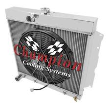 "3 Row Ace Champion Radiator 22"" Core W/ 16"" Fan for 1963 - 1967 Plymouth Fury"