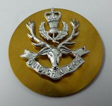 Genuine British Military Issue Queen's Own Highlanders Glengarry Hat Badge NEW