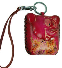 Genuine Leather Change/Coin Purse, Wallet - Pink Rat