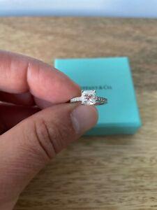 Tiffany & Co. platinum NOVO cushion cut, 1.15 carats, diamond engagement ring