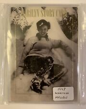 MARILYN MONROE 1993 STORY CARD INSERT - Snow Angel - GREAT Collector's Card