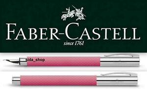 Faber Castell AMBITION Füllfederhalter M Edelharz OpArt Pink Sunset Füller