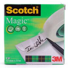 (0,10 €/m) Klebefilm 19mm x 33m beschriftbar unsichtbar matt 3M Scotch 810 11257