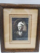 Old Antique Victorian Lady Photo - Framed - Matted