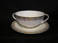 Royal Doulton - GOLD LACE - Cream Soup and Stand