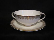 Royal Doulton - GOLD LACE - Cream Soup Bowl and Stand