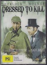 DRESSED TO KILL - SHERLOCK HOLMES - BASIL RATHBONE - NIGEL BRUCE - DVD - NEW -