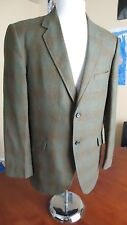 Vintage Towncraft Shadow Plaid Sport Jacket Suit Coat Penney's Size 40 Green