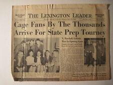 Lexington Leader, 1959 KHSAA Sweet 16 Basketball Tournament!