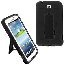 Black Hybrid Cover Case with Stand Screen For Samsung Galaxy Tab 3 7 P3200 T210