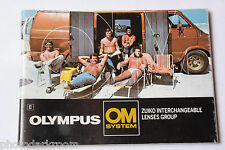 Olympus OM System Lenses Zuiko Group Sale Book Brochure - English - USED B11