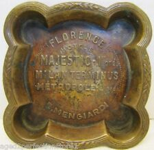 Art Deco FLORENCE HOTELS Advertising Ashtray MAJESTIC MILAN TERMINUS METROPOLE