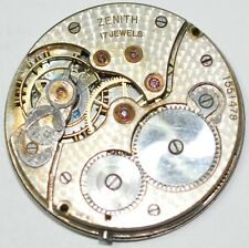 ZENITH POCKET WATCH MOVEMENT 17 JEWELS 38mm FOR SPARES REPAIRS #W914