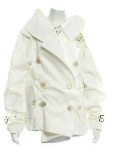 Junya Watanabe Comme des Garcons Double Breasted CollarWhite Cotton Jacket NEW
