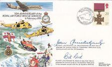 AC48d RAF Rescue Service Cover Signed JA Cruickshank VC & Flt lt Reid VC Holders