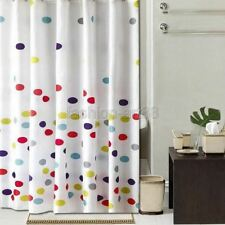 +12 Hook Multicolor Dots Pattern Bathroom Fabric Shower Curtain Fs854
