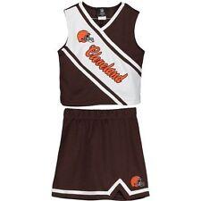 Cleveland Browns Girls Youth Brown 2-Piece Cheerleader Set Girls Child Costume