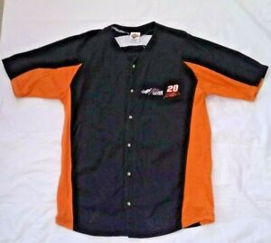 Nascar Winners Circle Tony Stewart 20 Embroidered Lettering Button Jersey Shirt