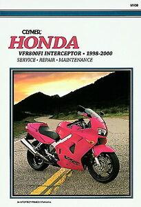 Honda VFR800FI VFR 800 Interceptor 1998-2000 Clymer Manual M438 Nuevo