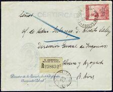 1527 Argentina Registered Official Cover 1944 Military Escuela De Suboficiales
