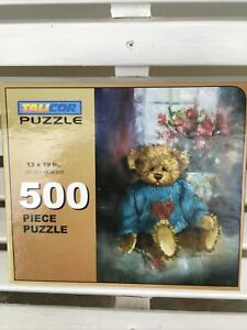 Talicor Puzzle Teddy Bear and Flowers 500 pieces NIB