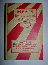 """GOOD HOUSEKEEPING MEALS (COOKBOOK), 6TH EDITION - JAN. 1933, 5X7 1/4"""" 256 PAGES"""