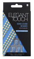 ELEGANT TOUCH 24 FULL COVER FALSE NAIL TIP MAN OVER BOARD LIGHT BLUE NAILS TIPS