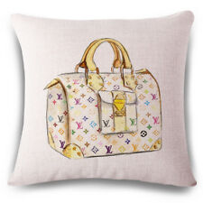 Fashion Yellow Blue Brown Bowler Bag Pillow Case Art Decorative Cushion Cover