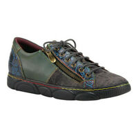 L'Artiste by Spring Step Women's   Danli Sneaker Grey Multi Leather/Microsuede