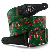 Adjustable Guitar Strap for Electric Acoustic Classical Guitar Bass Leather Head
