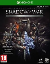 Middle-Earth Shadow Of War Exclusive Silver Steelbook Edition & DLC Xbox One NEW