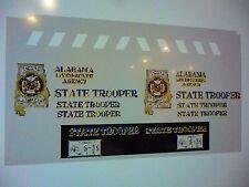 Alabama State Trooper New Patrol Car Decals 1:24