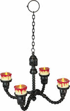 Morris Costumes Blood Rimmed Candle Chandelier Lighted LED Lights Black. OC74342
