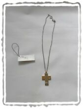 Chaîne et Pendentif Croix Bicolore  en Acier 316L et Diamant  TSC Jewels Neuf