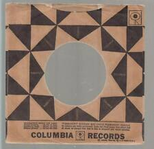 Company Sleeve 45 COLUMBIA Brown w/ Black Triangle Design & Lettering Logo Corne