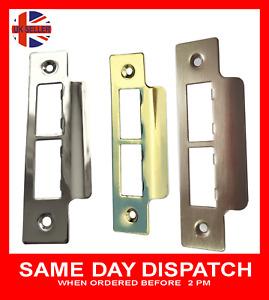 Door Strike Double Plate Chrome, Brass, Satin Long Plates Tubular Mortice Latch