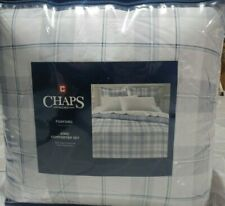 NEW RALPH LAUREN CHAPS 3PC KING COMFORTER SET FOXFORD PLAID