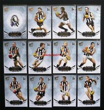 2009 Select Pinnacle Premium Collingwood Team Set T/C 12 Cards Gold Foil