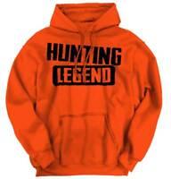 Hunting Legend Fathers Day Legendary Hunter Mens Long Sleeve Hoodie Sweatshirt