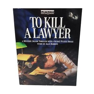 Bepuzzled Puzzle To Kill A Lawyer 500 Pc Mystery Thriller Vtg 1993 NEW OLD Stock