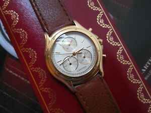 CARTIER 18K / 750 SOLID GOLD COUGAR PANTHER CHRONOGRAPH MSRP$8995.00