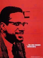 PROPAGANDA politica SOCIALISTA Rosso MALCOLM X I diritti civili posterprint bb6881b