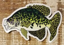 """CRAPPIE Sticker Decal fly fishing 5"""" x 3 1/4"""" glossy weather proof panfish perch"""