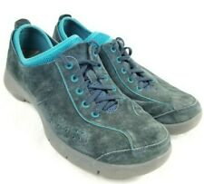 Dansko Elise Sneakers women 41 US 10.5 Suede Leather Blue Non Slip Lace Up Shoes