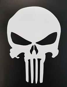 Skull / The punisher motorcycle tank pad/protector - Universal fitment - Clear