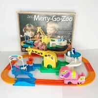 Vintage 1978 Tomy Playrail Merry Go Zoo #1028 in Box