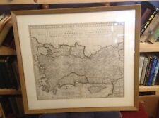 ASIA MINOR / TURKEY Antique Map 1729 FRAMED Pieter LOOK Free US Shipping RARE